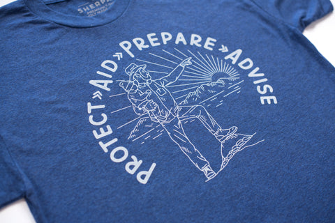 P.A.P.A. T-shirt in Blue