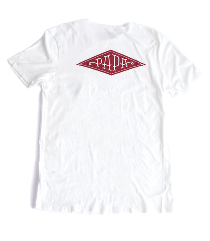 PAPA White Pocket T