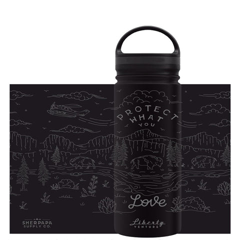 """Protect What You Love"" 18oz Insulated Coffee Flask/ Water Bottle"