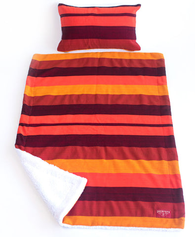 Sunset Stripe Baby Blanket/ Kids Camp Blanket