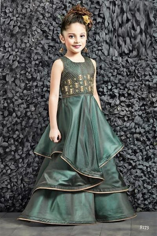 Bottle Green Gown