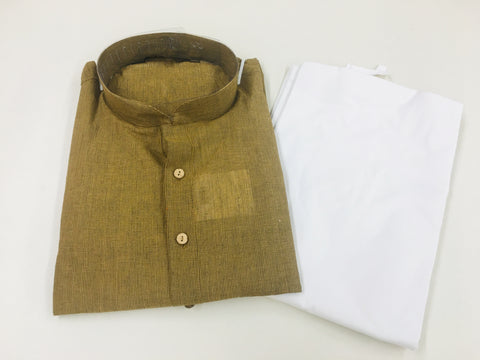 Brown Men's Kurta Pyjama