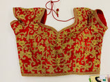 Red Embirodered Blouse