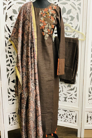 Brown Salwar Suit