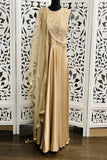 Beige Satin Anarkali Suit