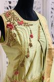 Pastel Green Embroidered Anarkali Suit