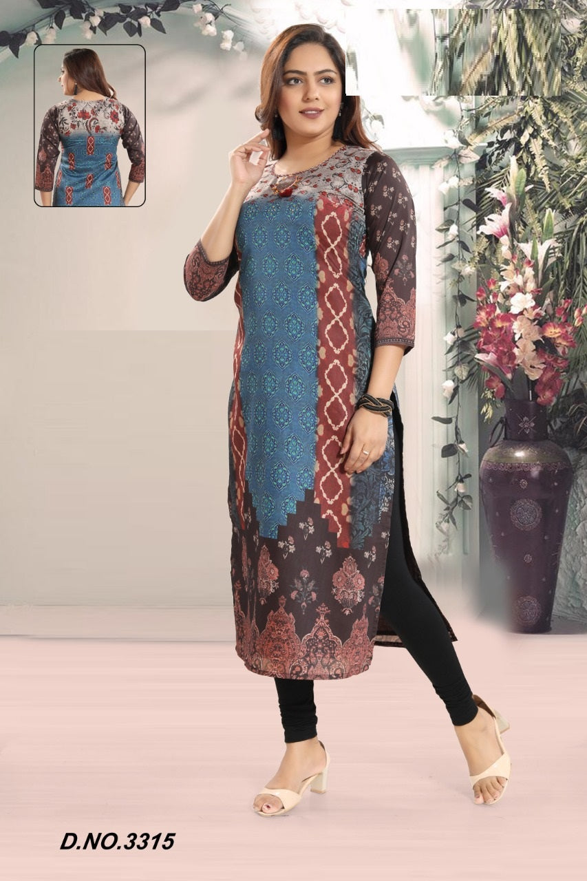 Blue and Brown Kurti