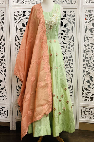 Mint Green Anarkali Suit