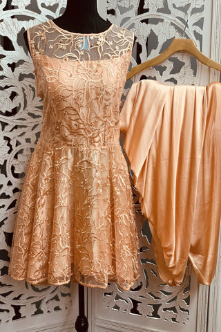 Peach Patiala Suit