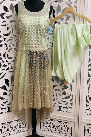 Mint Green Patiala Suit