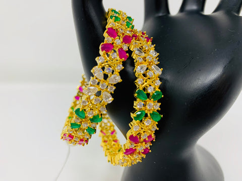Multi Colored CZ Stone Bangles