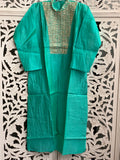 Turquoise Embroidered Kurti