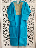 Blue Embroidered Kurti