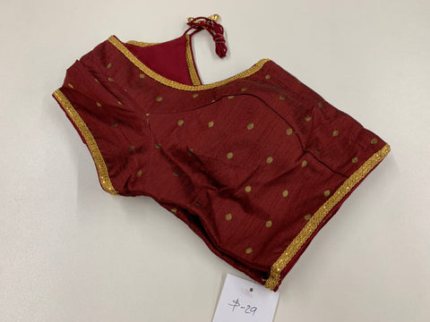 Maroon Blouse with Butas