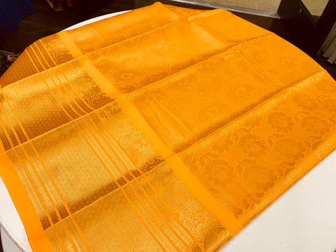 Yellow Semi Silk Saree