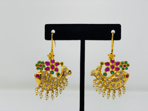 Fish Shaped Drop Earrings