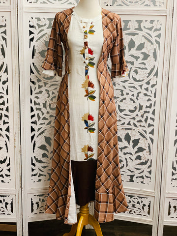 White and Brown Kurti