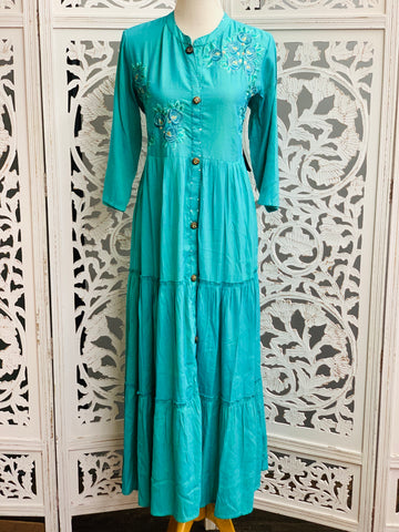 Blue Anarkali Gown