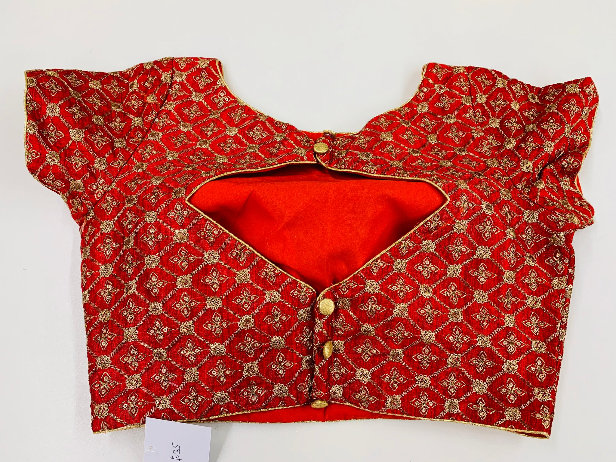 Red Raw Silk Blouse