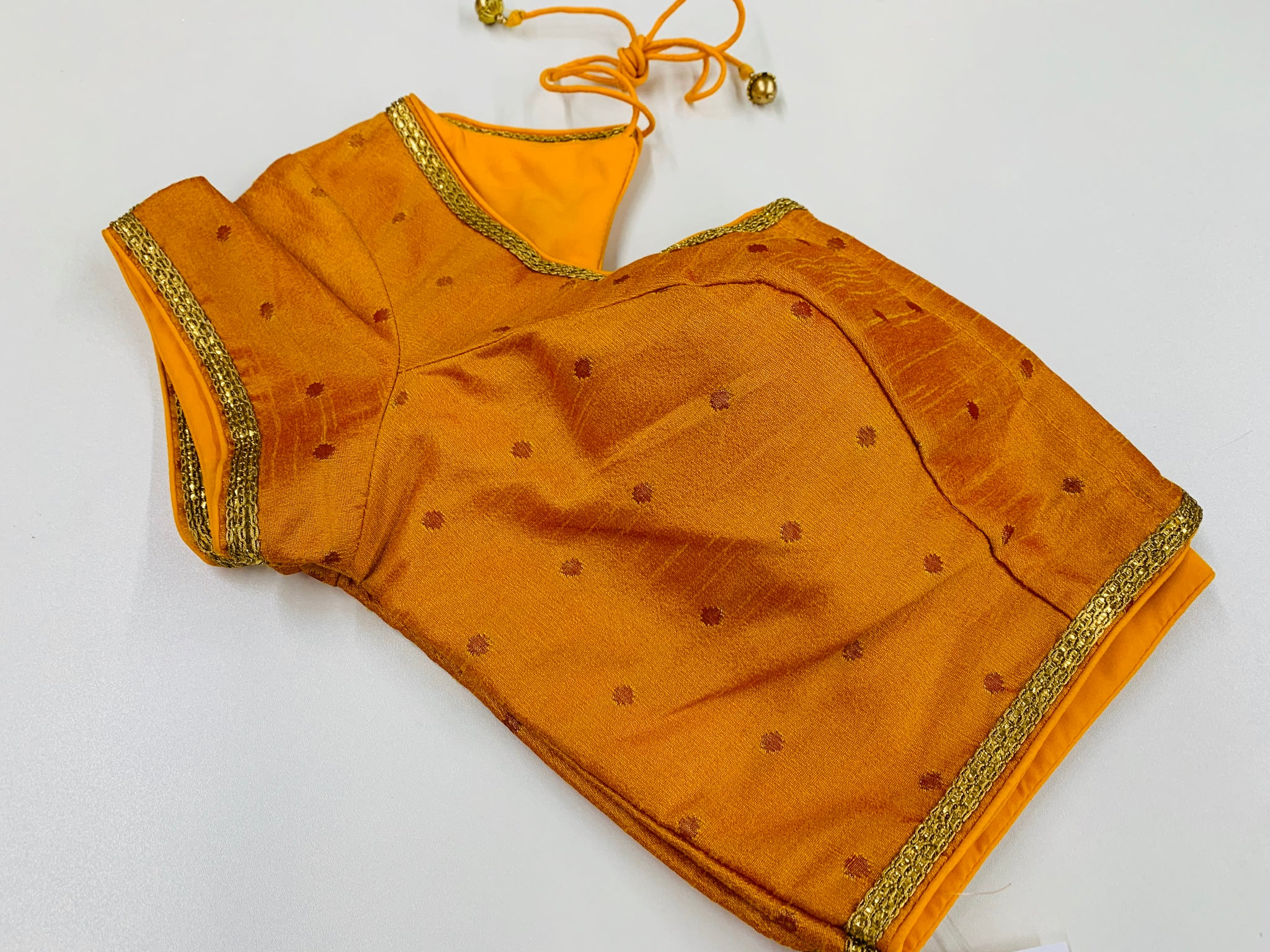Yellow Blouse with Butas
