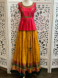 Pink and Yellow Lehenga Choli