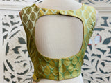 Pastel Green Brocade Blouse
