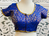 Blue and Gold Blouse