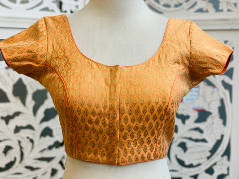 Peach Brocade Blouse