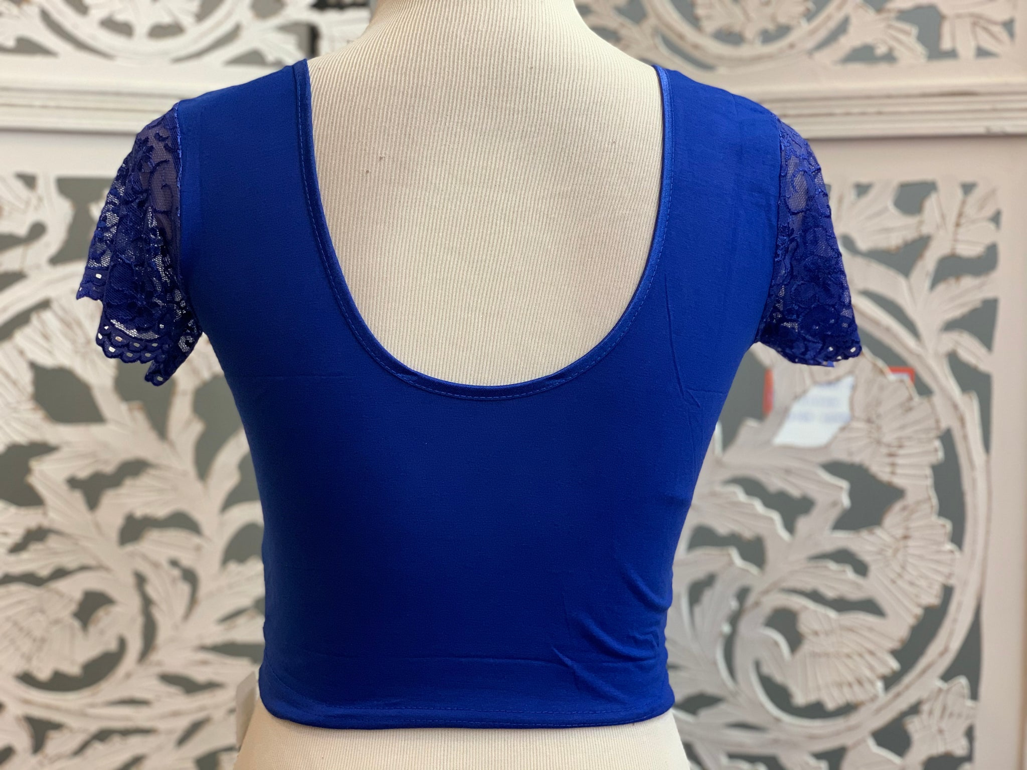 Royal Blue Stretchable Blouse