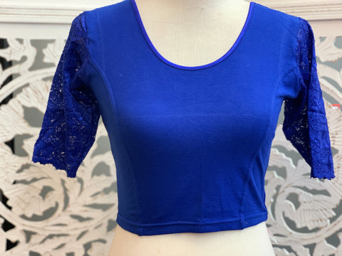 Blue Stretchable Blouse