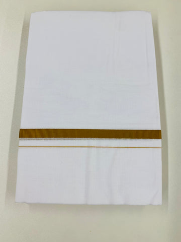 White and Brown Traditional Dhoti