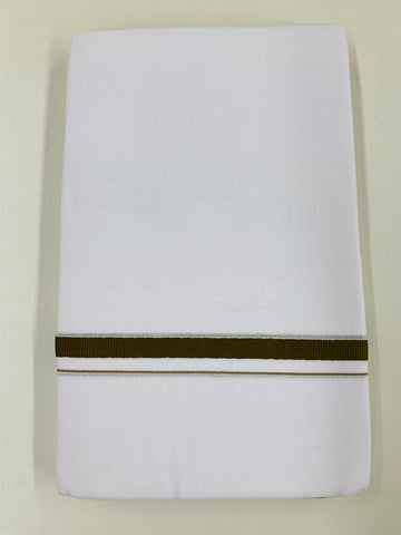 White and Sage Green Traditional Dhoti