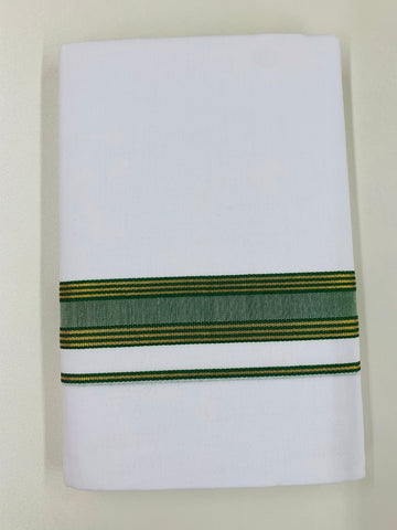 White and Green Traditional Dhoti