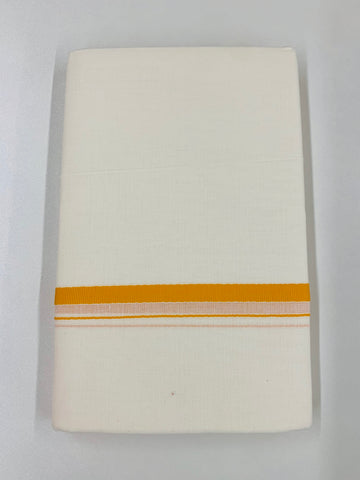 White and Yellow Traditional Dhoti