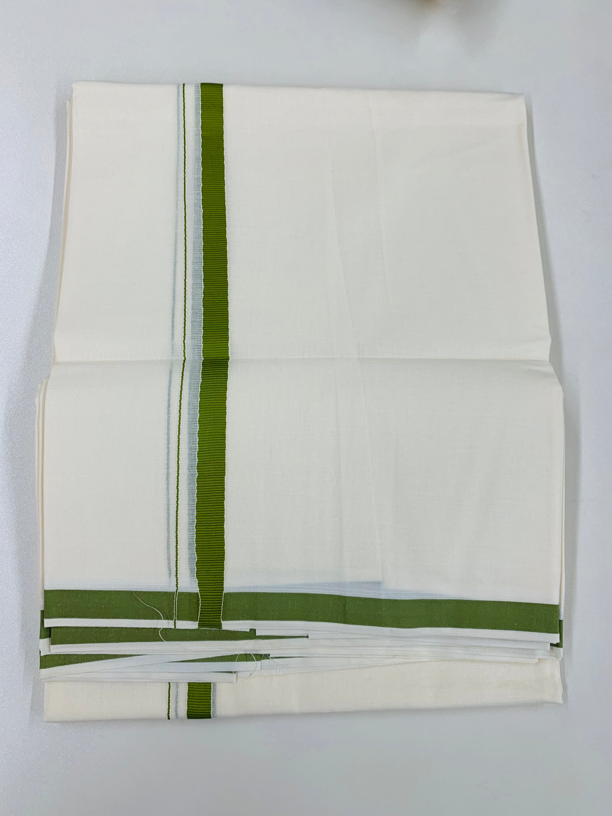White and Green Dhoti