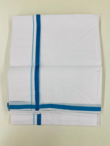 White and Blue Dhoti