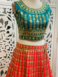 Blue and Pink Lehenga Choli