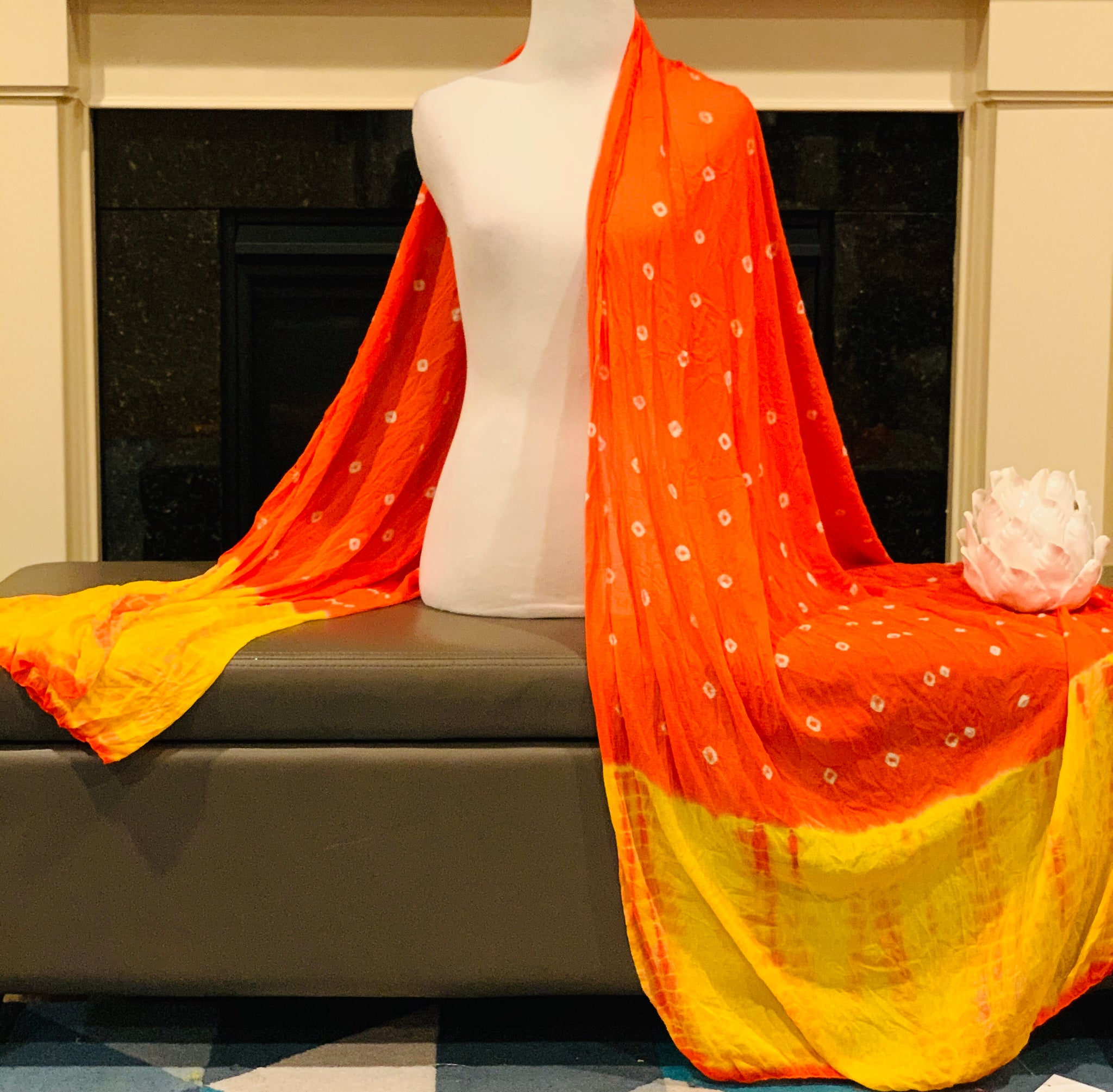 Orange and Yellow Dupatta/Scarf