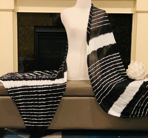 Black and White Dupatta/Scarf