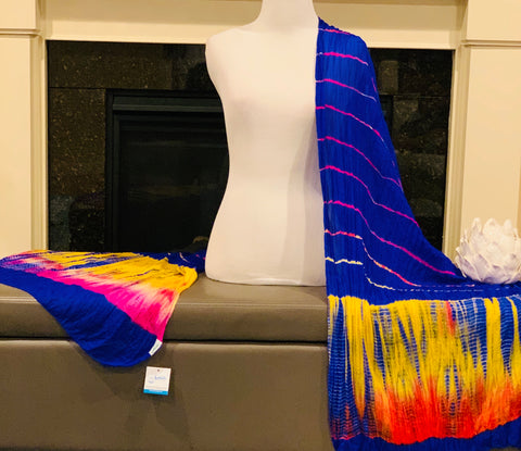Blue Tie and Dye Dupatta/Scarf