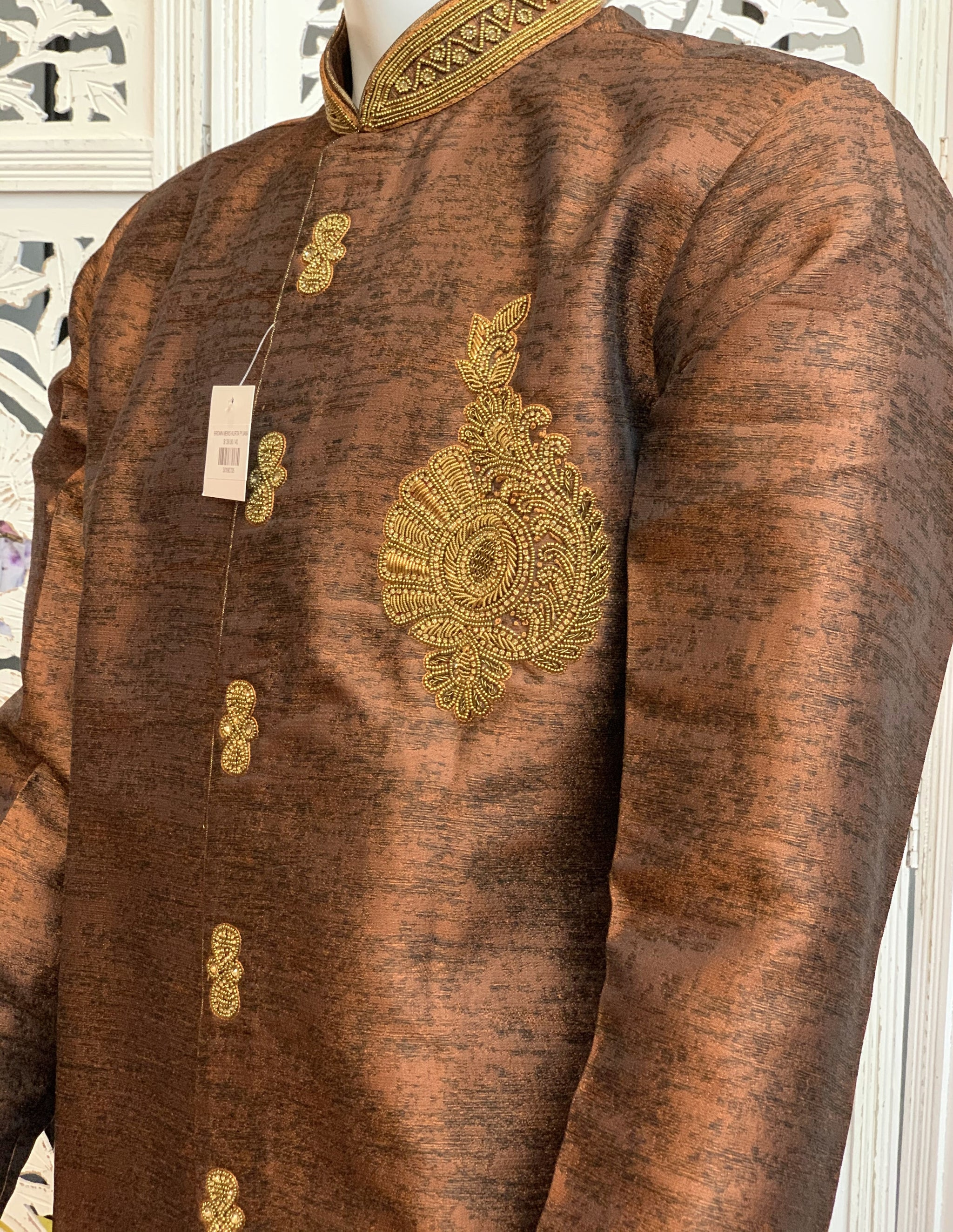 Brown Kurta Pyjama