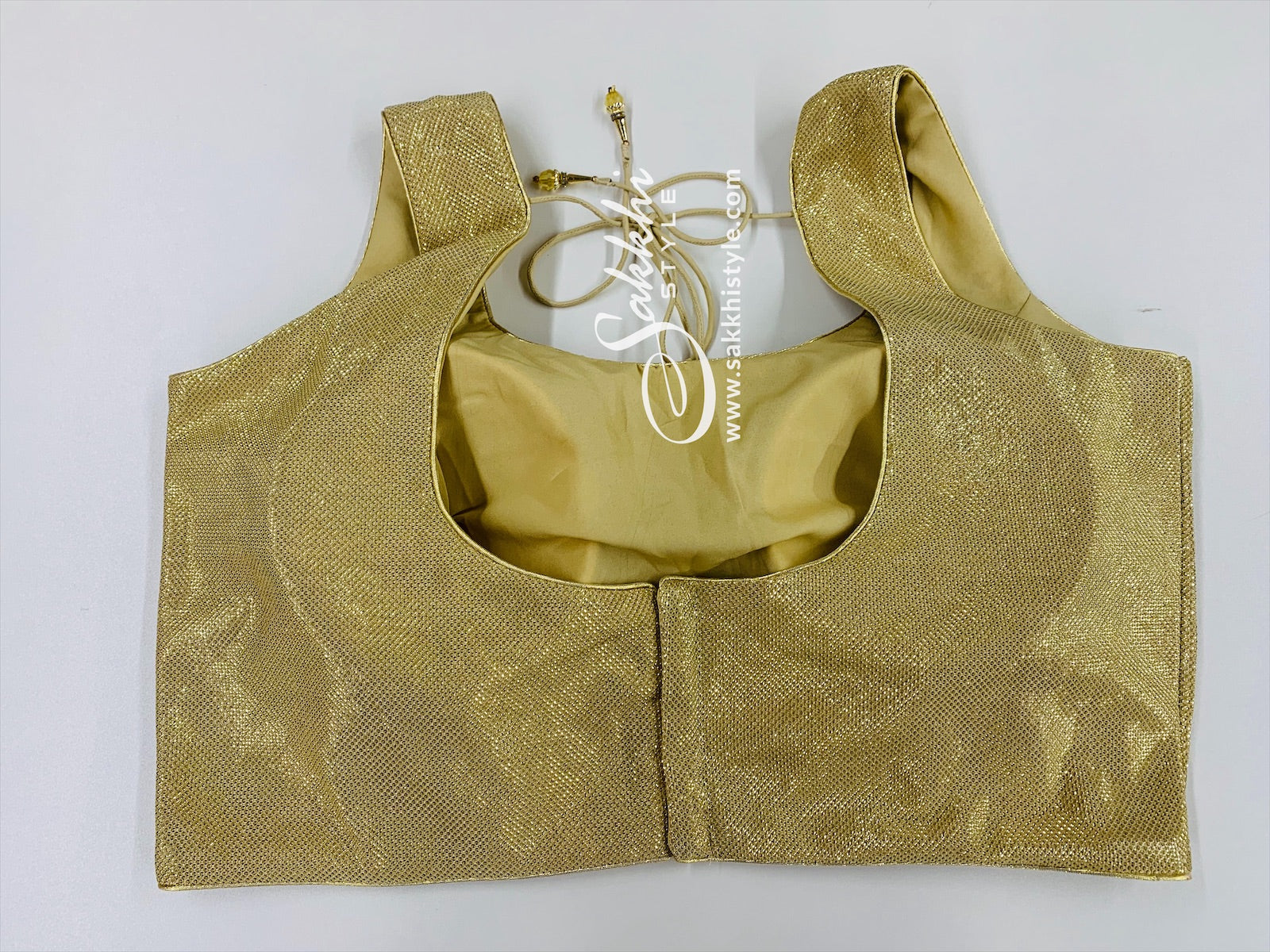 Gold Shimmer Sleeveless Blouse
