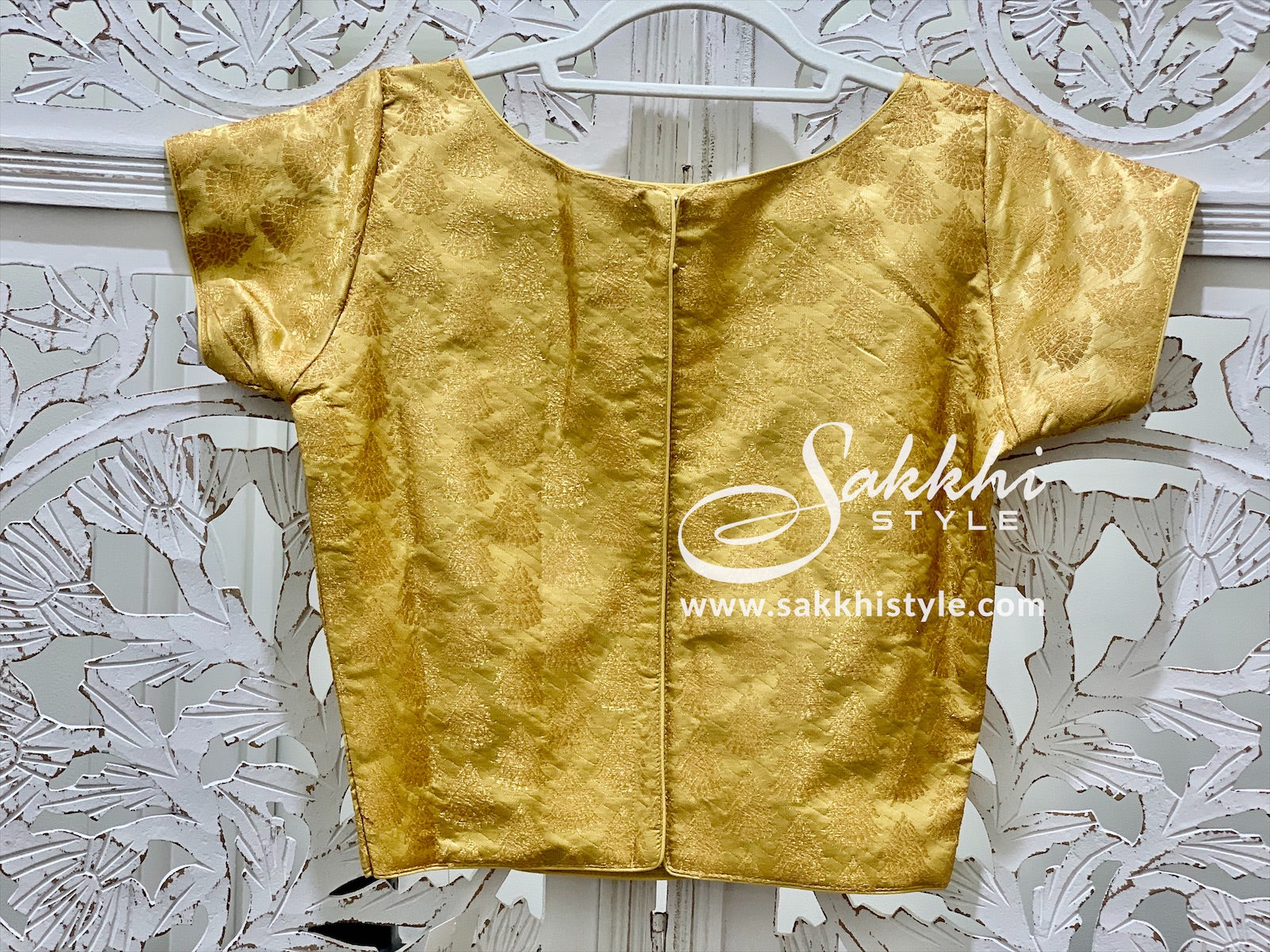 Gold Crop Top Blouse