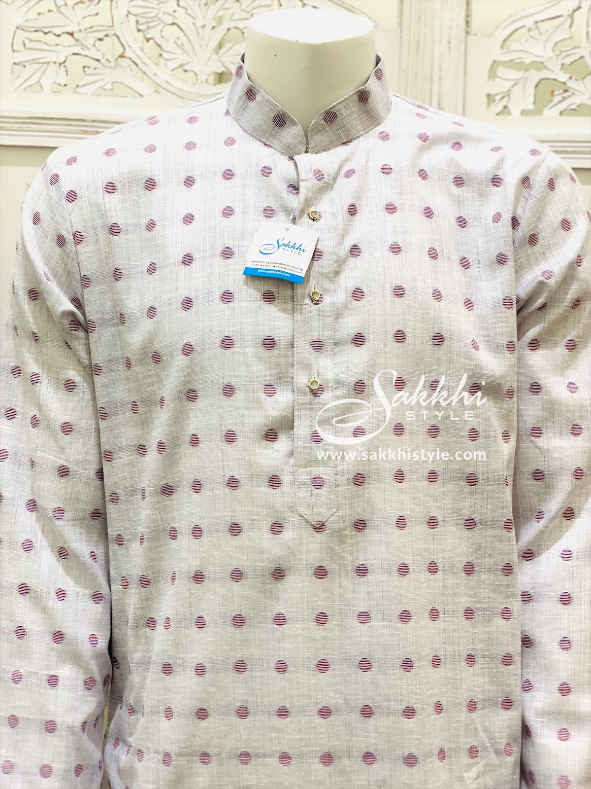 Pastel Purple and White Kurta Pyjama