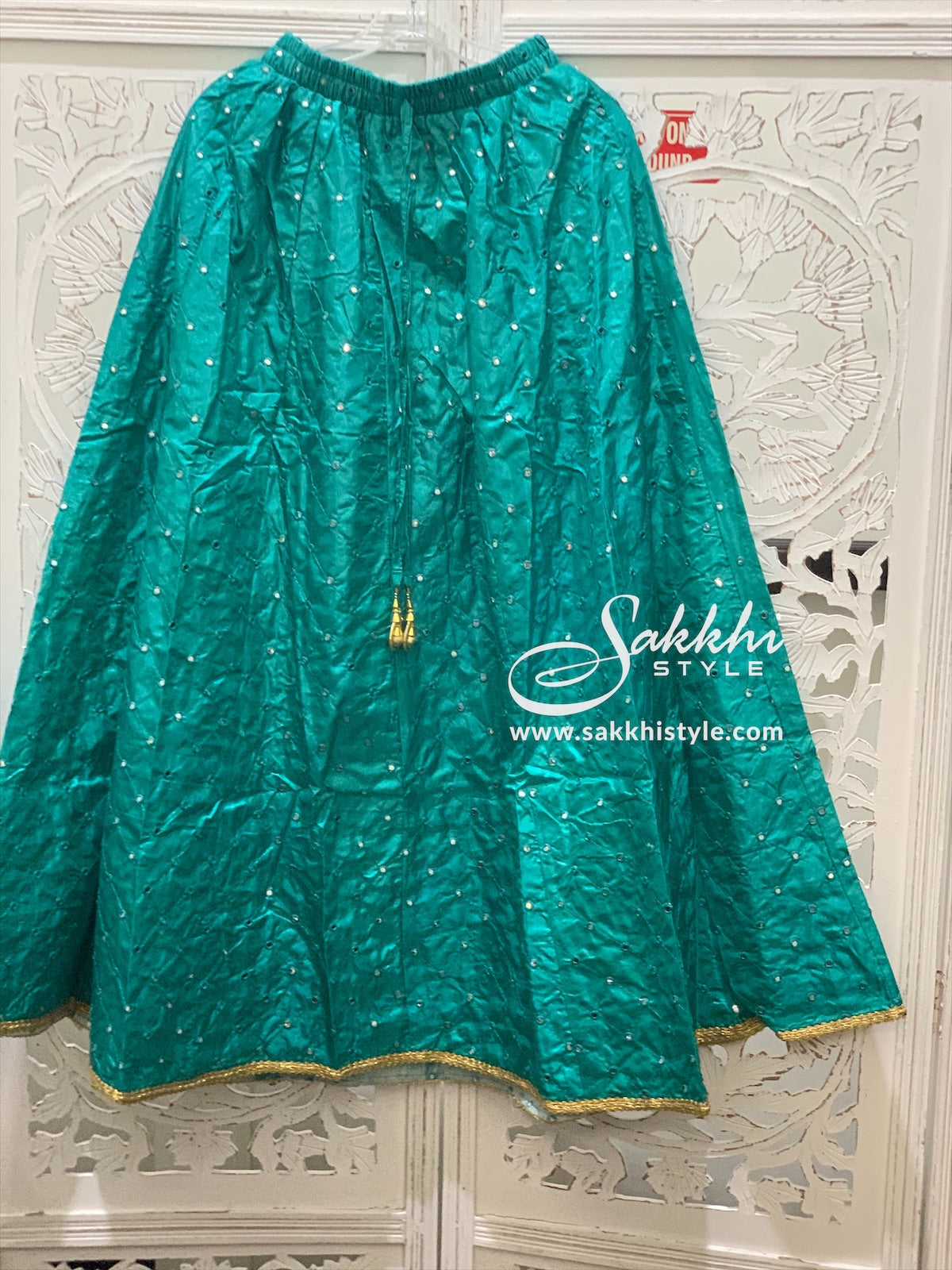 Blue Embroidered Skirt - Sakkhi Style