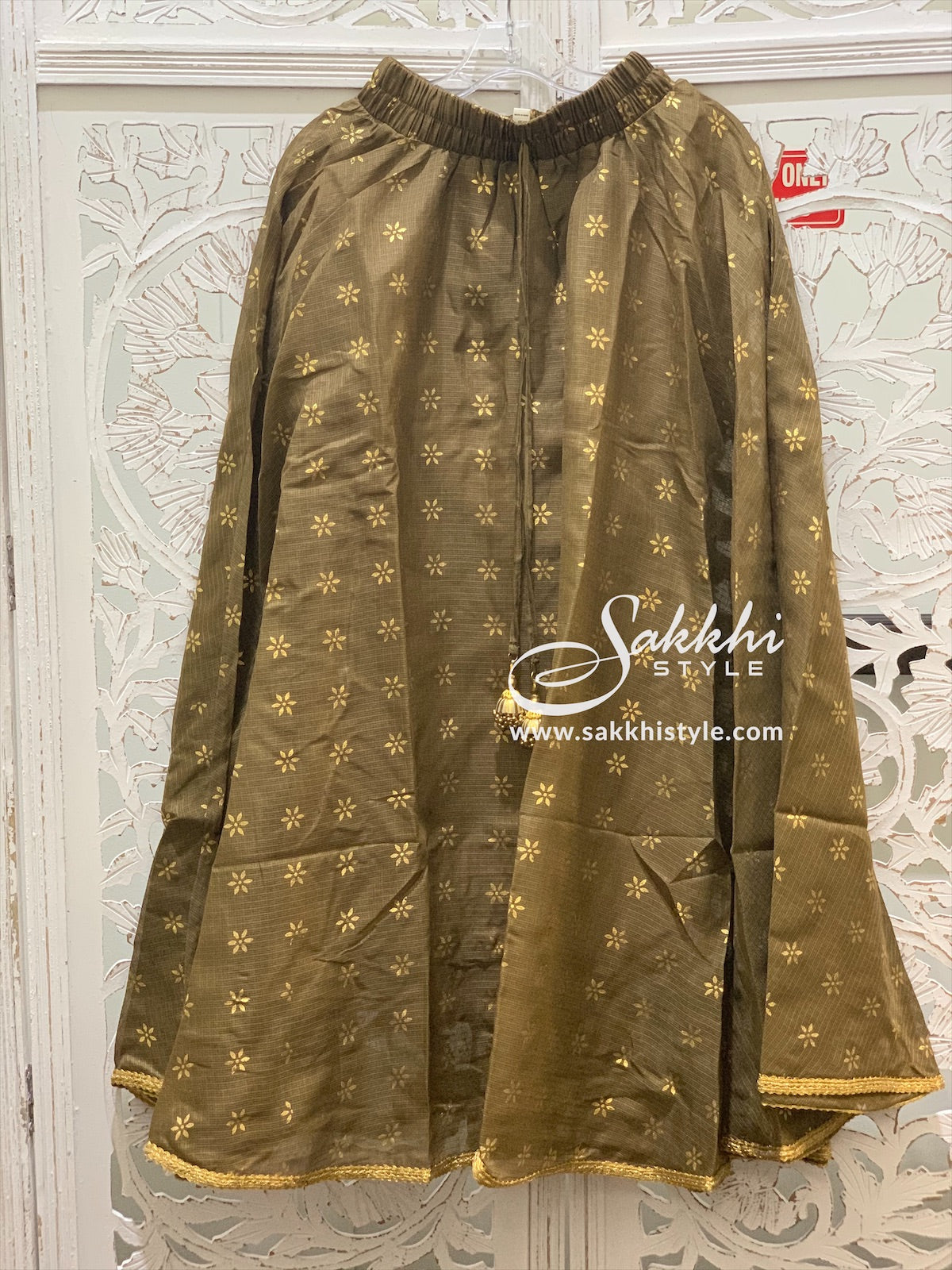 Brown and Gold Skirt - Sakkhi Style