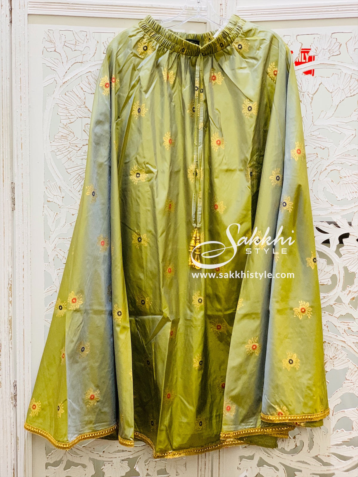 Green and Gold Skirt - Sakkhi Style