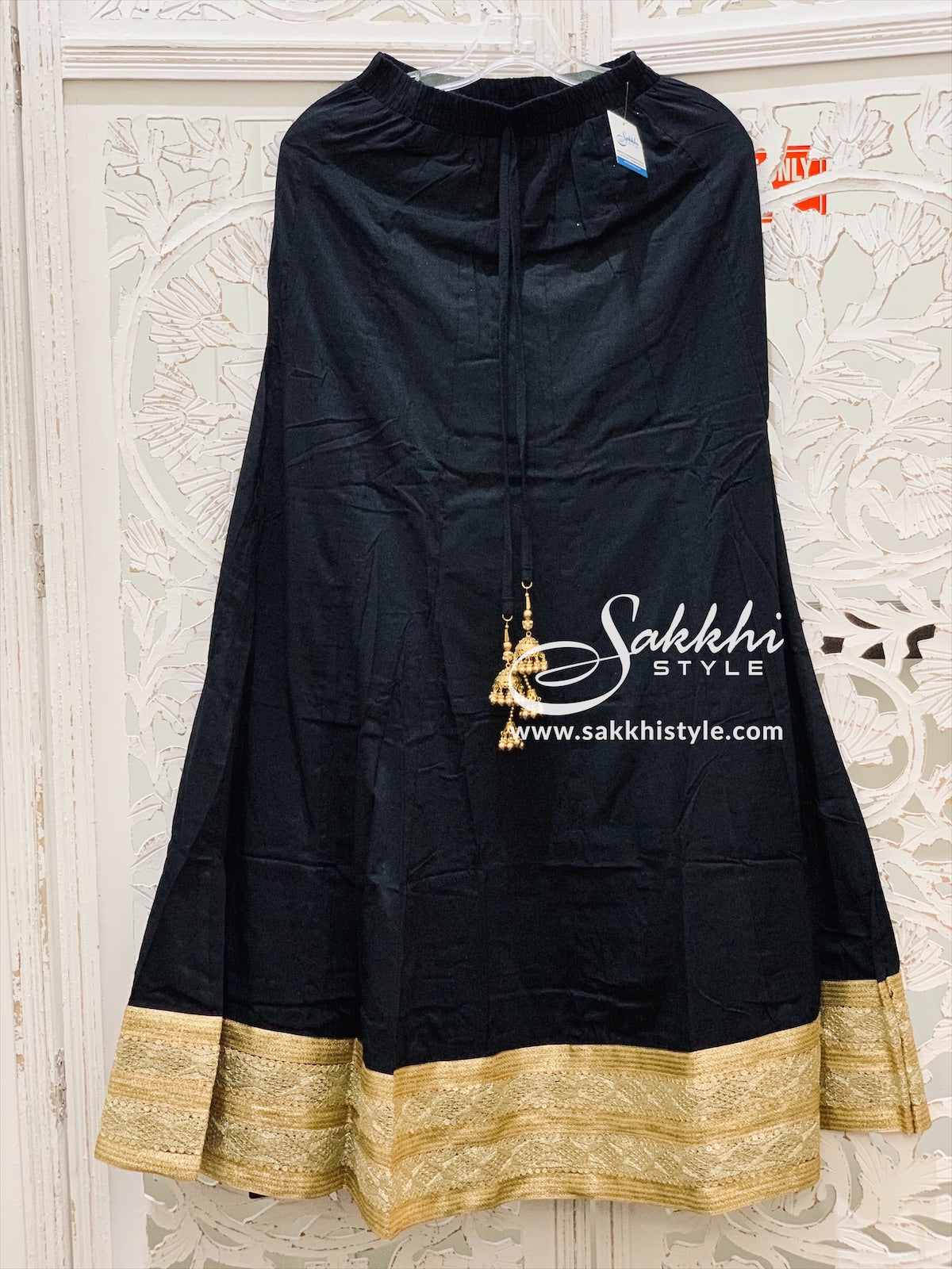 Black and Gold Skirt - Sakkhi Style