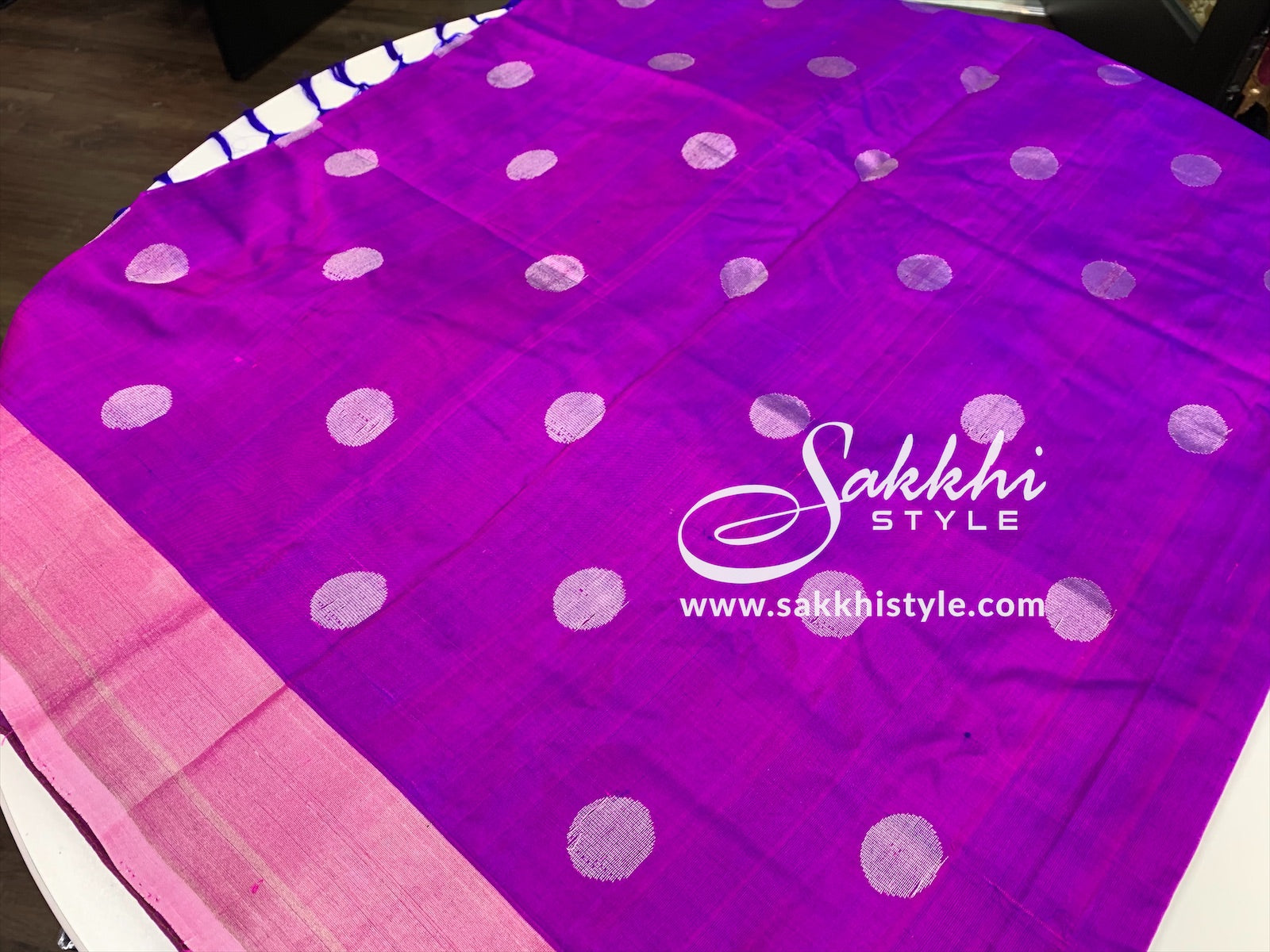Purple and Silver Uppada Pattu Saree