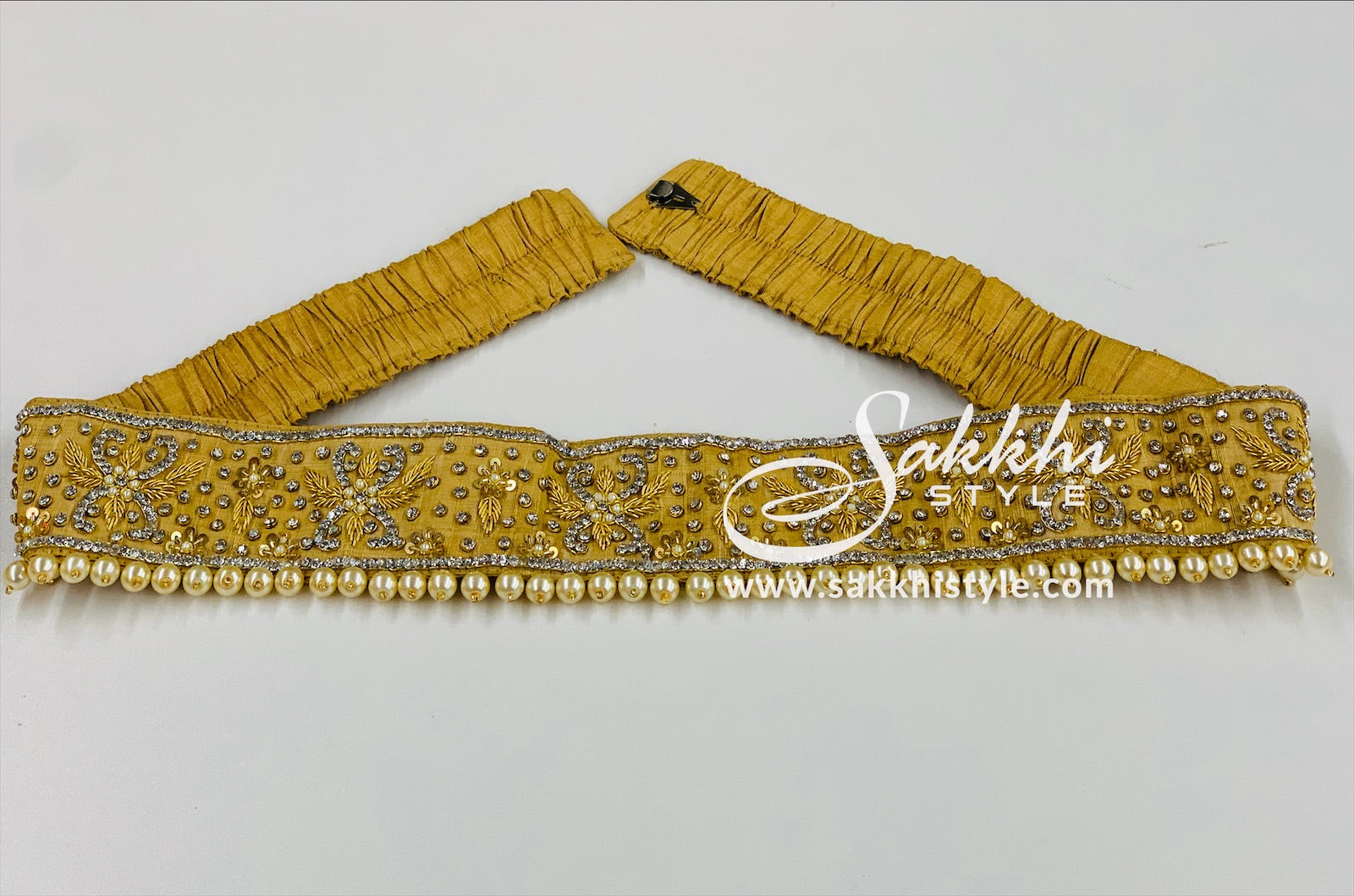 Gold Embroidered Waist belt